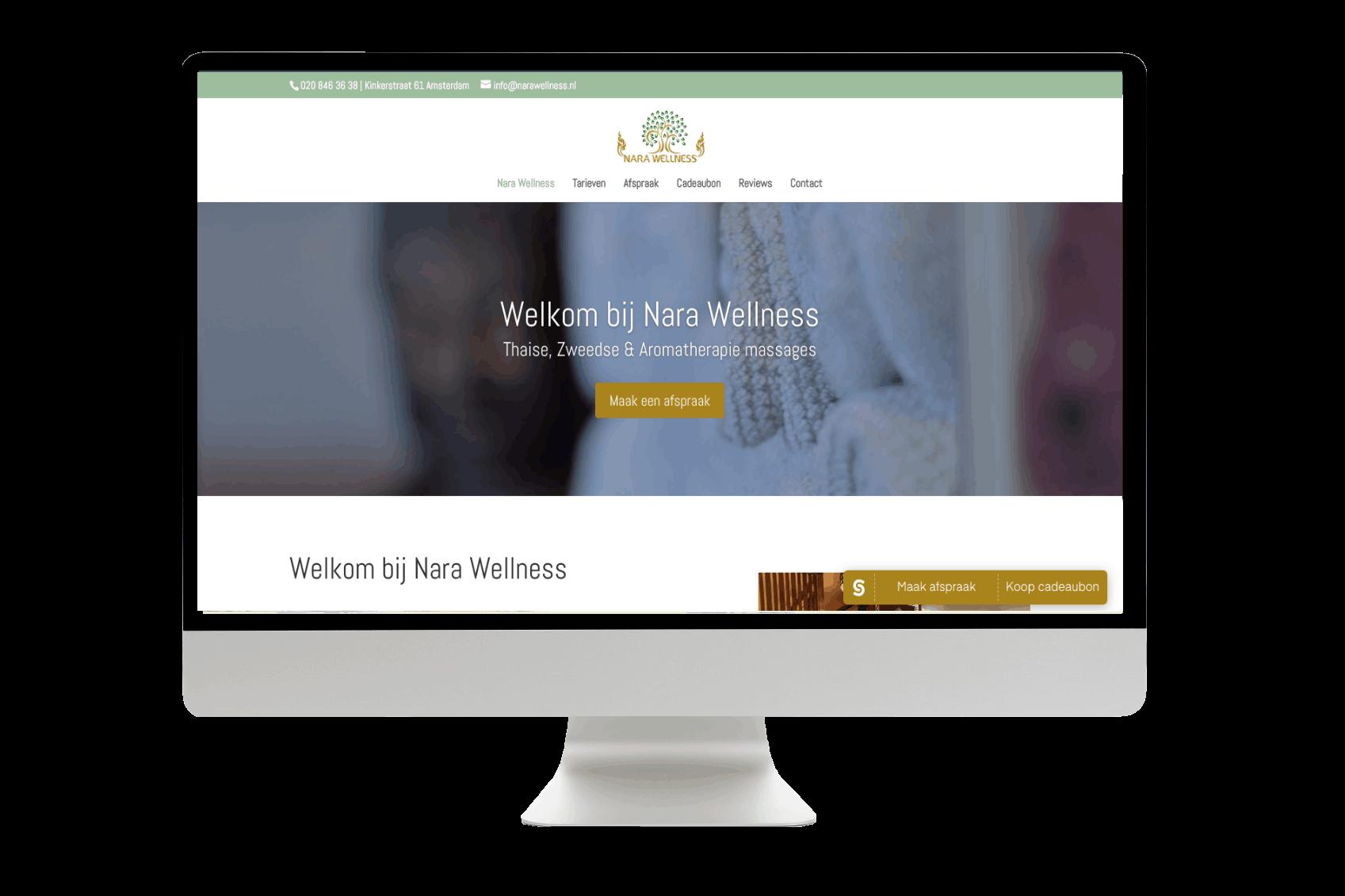 Webdesign dordrecht Nara wellness